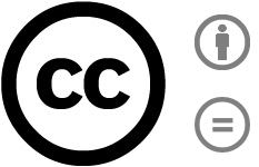 Creative Commons, by attribution, no derivatives, 4.0